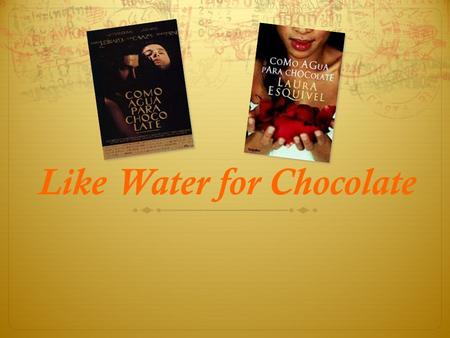 like water chocolate essay prompts Like water for chocolate: the important role of food full of love, passion, family tradition and mouth-watering recipes, laura esquivel's like water for chocolate is seasoned with magical intensity that will leave your heart boiling.
