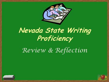 Nevada State Writing Proficiency Review & Reflection.
