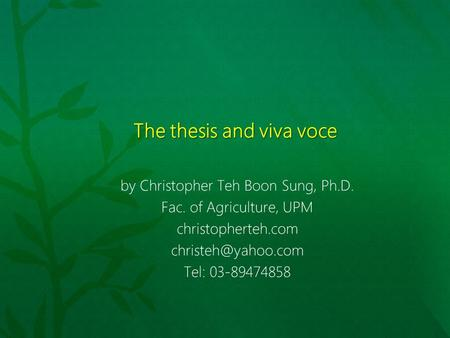 Nus phd thesis submission