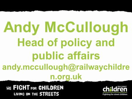 Andy McCullough Head of policy and public affairs n.org.uk.