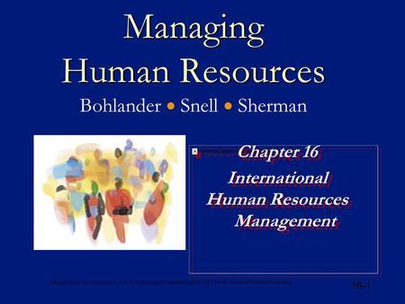 managing human resources belcourt pdf