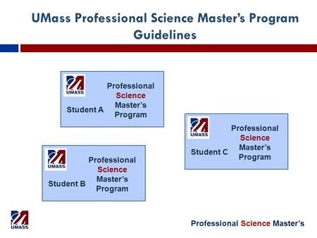 Professional Science Master's UMass Professional Science Master's Program Guidelines Professional Science Master's Program Student A Professional Science.