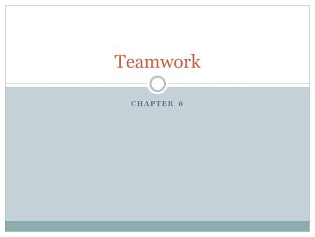 Teamwork Chapter 6.