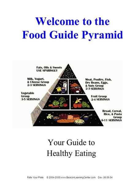 Welcome to the Food Guide Pyramid