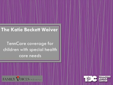 TennCare coverage for children with special health care needs