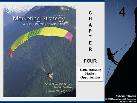 1-1 McGraw-Hill/Irwin ©2008 The McGraw-Hill Companies, All Rights Reserved C H A P T E R FOUR Understanding Market Opportunities 4.