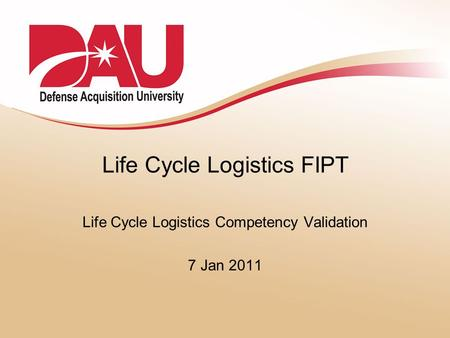Life Cycle Logistics FIPT