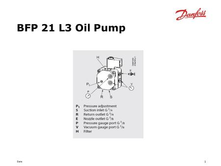BFP 21 L3 Oil Pump.