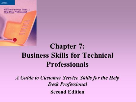 Chapter 7: Business Skills for Technical Professionals