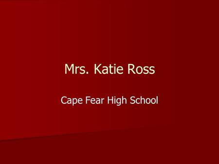 Mrs. Katie Ross Cape Fear High School. Civil War TLW identify political and military turning points of the Civil War by completing interactive notes and.
