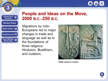 People and Ideas on the Move, 2000 B.C.–250 B.C.