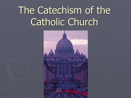 The Catechism of the Catholic Church. Questions 1. Was Jesus ultimately: A.more human than divine B.more divine than human C.half and half (equally human.