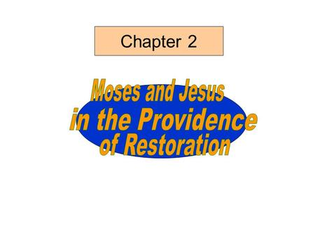Chapter 2. Secrets of God's work of salvation (Amos 3:7) Principle behind God's providence Providential courses of Jacob and Moses Unable to discern the.