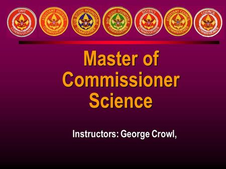 Doctorate of commissioner science thesis