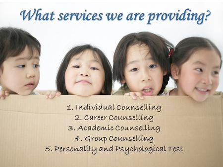 What services we are providing?