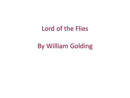 the defects of society in lord of the flies by william golding Analysis essay in relation to lord of the flies the defects of society back to the defects of on the novel lord of the flies by william golding.