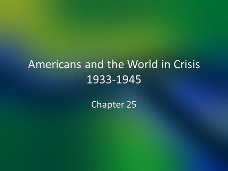 How and for what reasons did the united states foreign policy change between 1920 and 1941 dbq