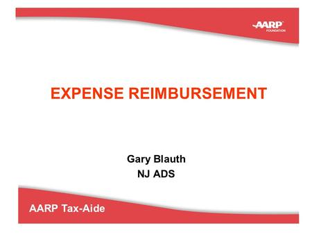 EXPENSE REIMBURSEMENT