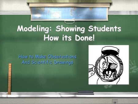 Modeling: Showing Students How its Done! How to Make Observations And Scientific Drawings.