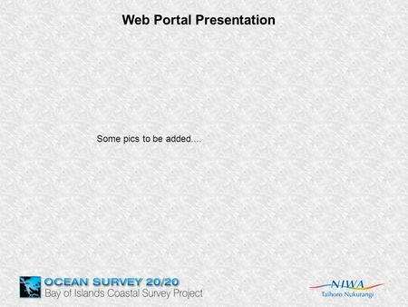 Web Portal Presentation Some pics to be added.....