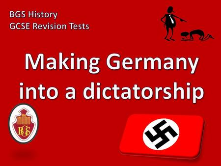 1) What kind of leader did Hitler plan to be? Dictator!