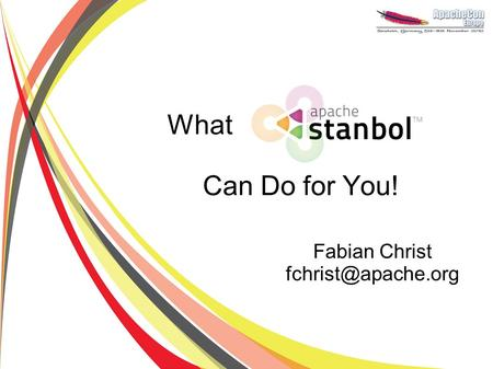 What Can Do for You! Fabian Christ