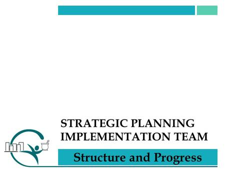 STRATEGIC PLANNING IMPLEMENTATION TEAM Structure and Progress.