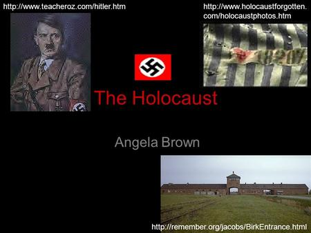 1 The Holocaust Angela Brown    com/holocaustphotos.htm.