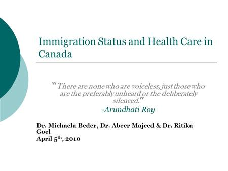 immigration health