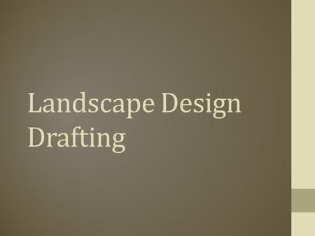 Landscape Design Drafting