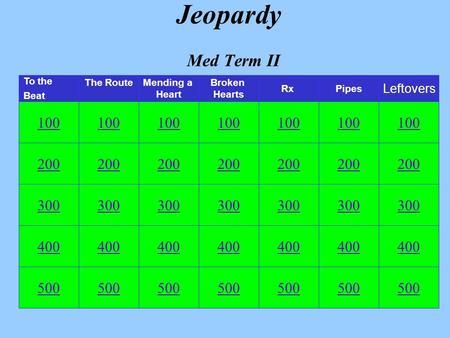 Med term 100