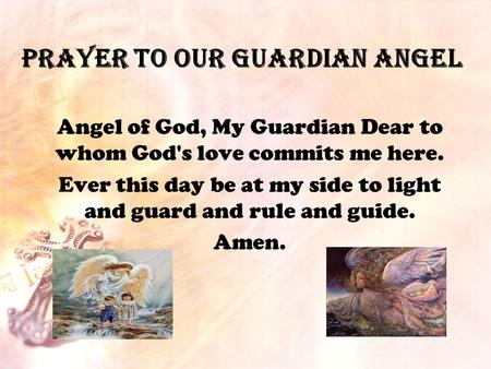 Prayer to Our Guardian Angel