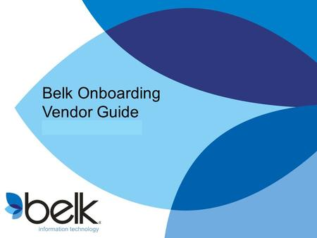 Belk Onboarding Vendor Guide