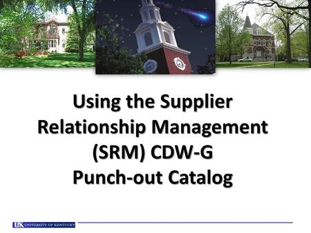 Using the Supplier Relationship Management (SRM) CDW-G Punch-out Catalog.