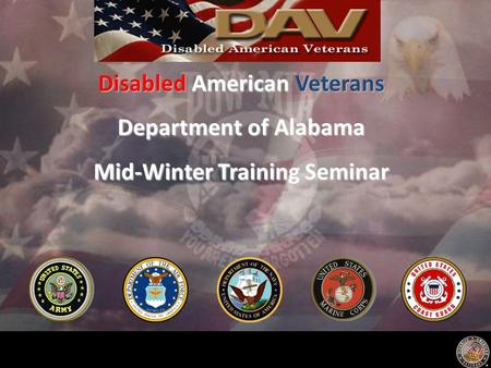 Disabled American Veterans Department of Alabama Mid-Winter Training Seminar.