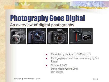 an overview of digital imaging and photography