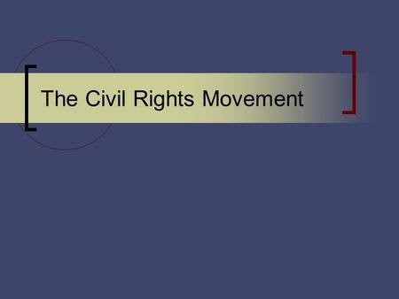 The Civil Rights Movement. Civil Rights Movement A political, legal, and social struggle to gain full citizenship rights for African Americans. Challenged.