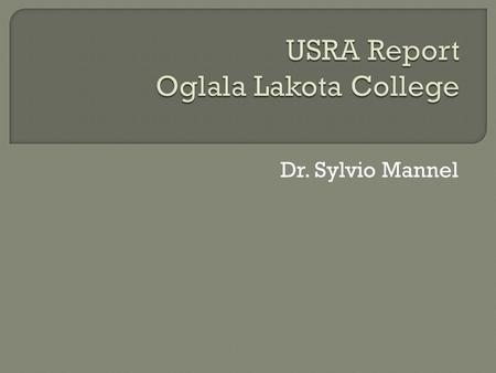 Dr. Sylvio Mannel.  Intro classes USRA had an impact on  Samples (field trip, workshops, projects) Outreach 3D video Interactive google map Tutorials.