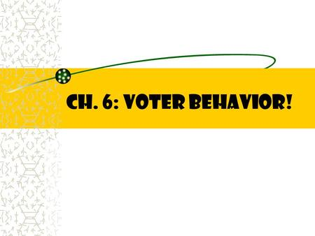 CH. 6: Voter Behavior!.