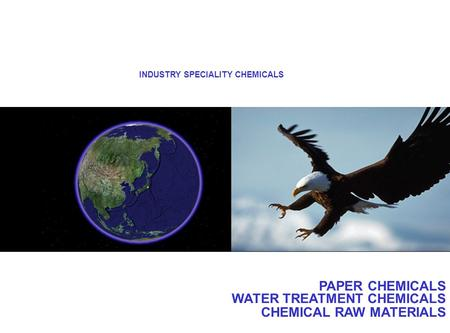 PAPER CHEMICALS WATER TREATMENT CHEMICALS INDUSTRY SPECIALITY CHEMICALS CHEMICAL RAW MATERIALS.