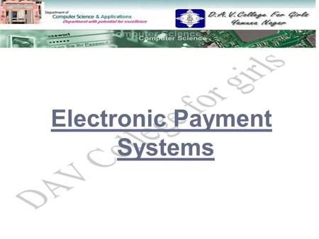 Electronic Payment Systems.  E-Commerce Payment Systems E-Commerce Payment Systems  Modes of electronic payments Modes of electronic payments  Credit.