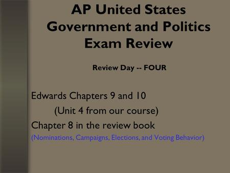 ap us government and politics essay questions Ap government free response questions 1988 your essay should be an analysis of political activities and using your knowledge of united states politics.