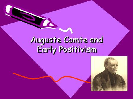 Auguste comte early essays