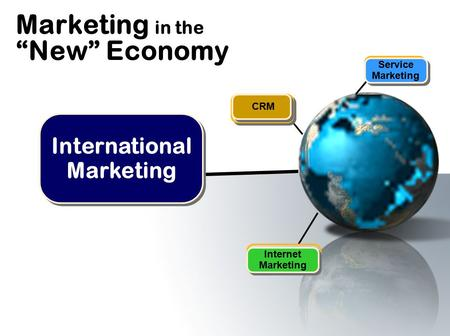 "Marketing in the ""<strong>New</strong>"" Economy Internet Marketing CRM Service Marketing International Marketing."