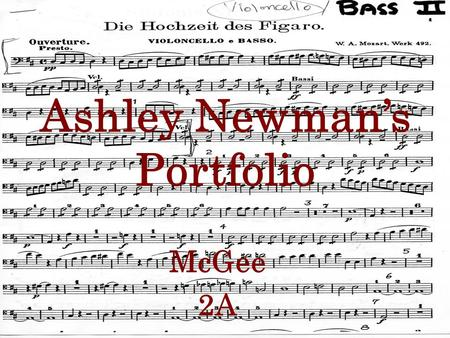 Ashley Newman's Portfolio McGee 2A. Directions Click the music icon on the top of this page to go to the table of contents. You simply click icon next.