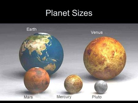 Planet Sizes. Direction the Planets revolve around the Sun? counterclockwise Shapes of orbits? ellipses.