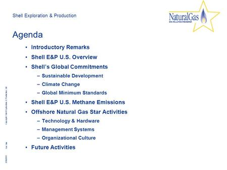 Shell Exploration & Production Copyright: Shell Exploration & Production Ltd. 8/30/2015 File Title Agenda Introductory Remarks Shell E&P U.S. Overview.