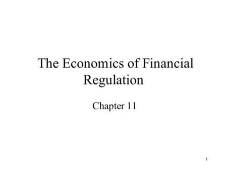 economic analysis of financial regulation Benefit-cost analysis for financial regulation american economic review, vol 103, no 3 benefit-cost analysis, financial regulation, allocative efficiency, price discovery the economic analysis of regulation.