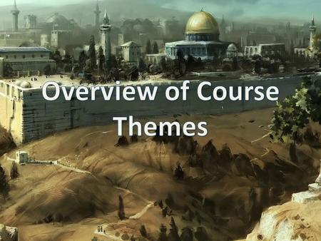 Five Course Themes for HRE 1O1 Creation Covenant Salvation Theology Christology.