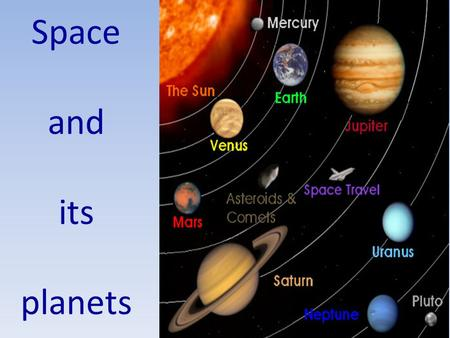 Space and its planets.